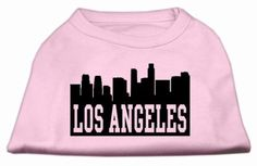 Mirage Pet Products 20-Inch Los Angeles Skyline Screen Print Shirt for Pets, 3X-Large, Light Pink
