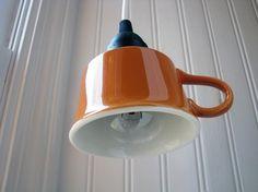 hanging teacup light