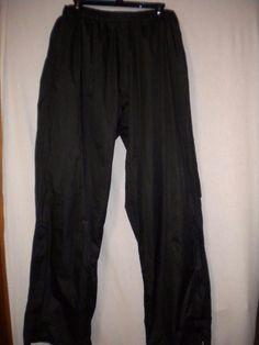 Antigua Golf Size XL Black Antech Elastic Drawstring Mens Athletic Sweat Pants #Antigua #Athletic
