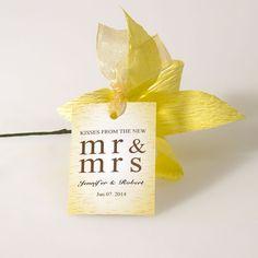 Yellow Wedding Favor Tags