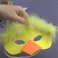 Masque poussin en mousse Masque à fabriquer - Loisirs créatifs