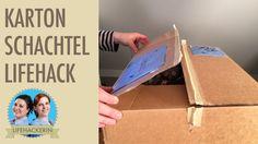 Schachtel mühelos verschliessen und wieder öffnen   Klebeband aufkriegen