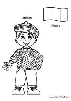 Coloriage Enfant Irlande Sur Hugolescargot