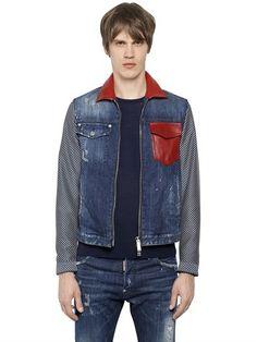 Мужские Джинсовые Куртки, Джинсовые Куртки, Мужская Мода, Хлопок, Кожа,  Рубашки И e33063aaa1c