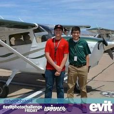 """Through #EVIT, I learned to fly a plane, and was even taught by #EVITAlumni!"" Congratulations to @thegibbster4 for being one of the winners of this week's #evitphotochallenge! #weareevit"