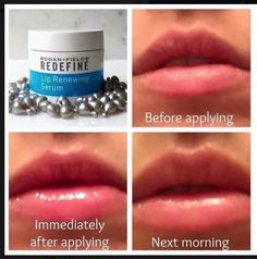 """RODAN+FIELDS LIP RENEWING SERUM WAS SELECTED BY """"VOGUE"""" AS A MUST HAVE ON THEIR SPRING HIT LIST!!"""" That's right, The Best Lip Product Available!! These little capsules contain restorative peptides and antioxidants, sealing chapped lips with moisture. Perfect to use overnight and all day, to restore hydration, plump up your lips and works amazingly well as a lipstick primer!"""