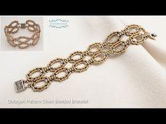 Beaded Bracelets Tutorial, Beaded Bracelet Patterns, Seed Bead Bracelets, Seed Bead Jewelry, Bead Jewellery, Handmade Bracelets, Beaded Earrings, Jewelry Necklaces, Seed Beads