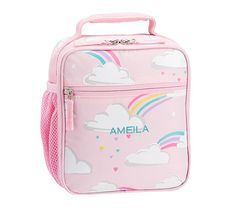 0ef2728251bc Mackenzie Pink Glow-in-the-Dark Clouds Lunch Bags