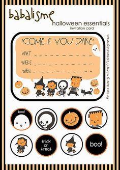Halloween Decoration free printable | Inviti al party, confezioni di caramelle e occhiali da paura tutto in versione stampabile