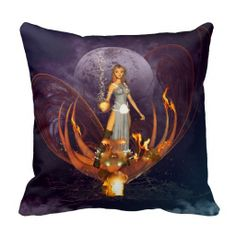 Beautiful fairy throw pillow