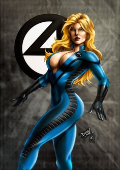 Busty invisible woman