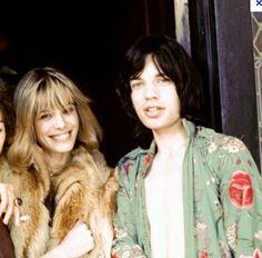 Mick & Anita Pallenberg = totally timeless.