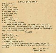 Roots From The Bayou: Family Recipe Friday - Devil's Food Cake