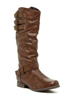 Buckle Detail Boot. -- get these for me pleasssse. --