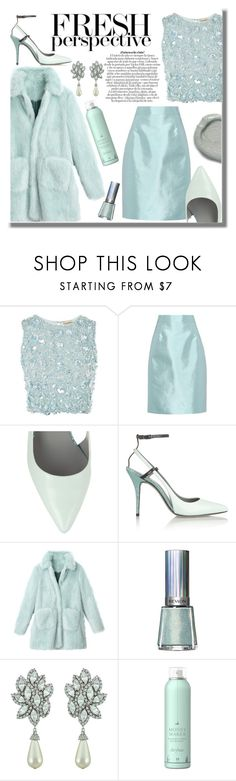 """""""Untitled #191"""" by danielleadi ❤ liked on Polyvore featuring Lace & Beads, Prada, Alexander Wang, Revlon, Ciner, Drybar and Omorovicza"""