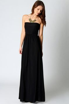 Heidi Slinky Bandeau Maxi Dress $40