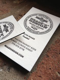 New letterpress business cards for me!