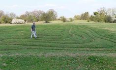 Mizmaze at St Catherine's Hill, Winchester. This is an ancient turf maze - http://www.worldwidewriter.co.uk/2012/04/winchester-mizmaze.html