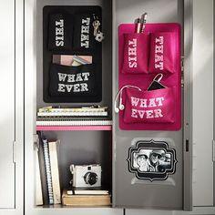 Black + Pink Pocket Essential Locker Accessory