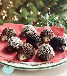 OMG! So cute...hedgehog chocolate... we'd have trouble eating them! lol