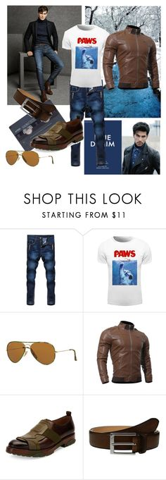 """""""👔Paws"""" by ec300 ❤ liked on Polyvore featuring Massimo Dutti, Ray-Ban, Salvatore Ferragamo, To Boot New York, men's fashion and menswear"""