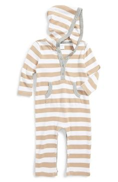 Nordstrom Baby Hooded Cotton Romper (Baby Boys) available at #Nordstrom