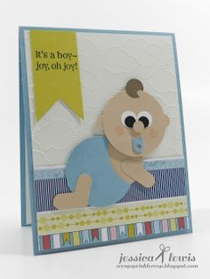 Stampin up baby punch art