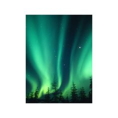 Aurora Borealis or Northern Lights, Alaska, USA Photographic Wall Art... ($40) ❤ liked on Polyvore featuring home, home decor, wall art, backgrounds, mounted wall art, home wall decor, wall posters and photographic wall art