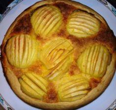 Alsatian Apple Cake: Apfelkuchen mit Vanille Pudding