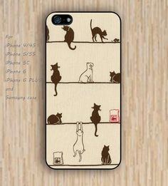 iPhone 5s 6 case Dream catcher colorful cat case phone phone case iphone case,ipod case,samsung galaxy case available plastic rubber case waterproof B425