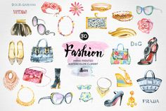 Fashion Watercolor Clipart by OctopusArtis on Creative Market