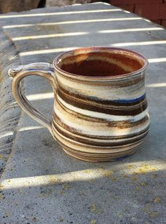 Item #2036 Agateware - Neriage Mug, 14 oz.