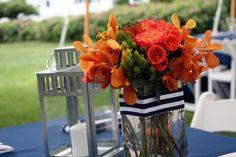 Orange, Navy and White Wedding: Aimee and Adrian June 26, 2010 Biddeford Pool   Flora Fauna