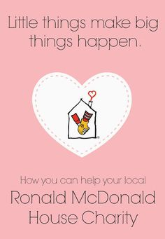 How to help out the Ronald McDonald House Charity. #RMHC