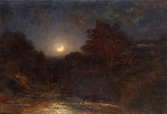 View Moonlit night by Aleksei Petrovich Bogolyubov on artnet. Browse upcoming and past auction lots by Aleksei Petrovich Bogolyubov. Nocturne, Color Of Night, Russian Landscape, Moonlight Painting, Landscape Paintings, Landscapes, Prince, Various Artists, Night Vision
