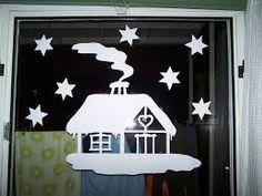 Výsledek obrázku pro okenní obrázky vánoce a zima