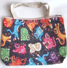 Color birds parrot flower shopping tote shoulder handbag handmade zipper purse #handmade #ShoulderBag