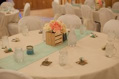 Mint Table Runners and DIY Centerpieces