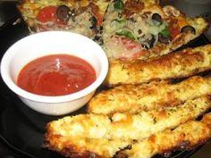 """Cauliflower pizza and """"bread"""" sticks Gluten Free"""