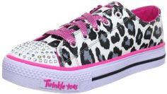 Skechers Twinkle Toes Lights Shuffles Wild Onez Girls Shoes White/Black/Hot Pink 12 Skechers. $42.99