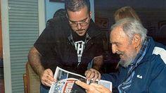 El pueblo cubano despertaba el martes con las fotografías recientes de Fidel Castro junto al dirigente universitario de La Habana, Randy Perdomo