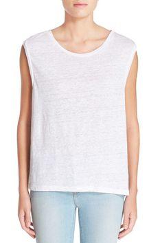 'Hart' Linen & Cotton Sleeveless Top