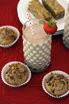 Peanut Butter and Banana Smoothie; Cranberry-Pecan Butter Muffins from from Nut Butter Universe by Robin Robertson Vegan Peanut Butter, Cashew Butter, Vegan Breakfast Recipes, Vegan Recipes, Walnut Butter, Vegan Bread, Vegan Food, Cranberry Muffins, Vegan Cookbook