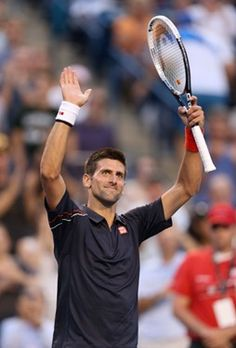 TORONTO, ON - AUGUST 08:  Novak Djokovic of Serbia celebrates after beating Bernard Tomic of Australia 6-2,6-3  during the Rogers Cup Presented By National Bank at Rexall Centre at York University on August 8, 2012 in Toronto, Ontario, Canada.  (Photo by Andy Lyons/Getty Images)