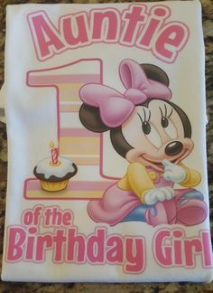 Minnie Mouse Auntie Shirt, Minnie 1st Birthday Shirt, Minnie Shirts