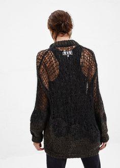 Maison Martin Margiela Handmade Open Weave Sweater (Light Grey)