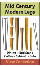 Extensive collection of Mid Century Modern and Danish Modern Legs  --  tablelegs.com