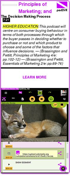 #HIGHER #PODCAST  Principles of Marketing; and Essentials of Marketing by Frances Brassington and Stephen Pettitt - podcasts    The Decision Making Process    LISTEN...  http://podDVR.COM/?c=7ba3abed-2ce5-f8e9-e6f1-8b91a3a3363a