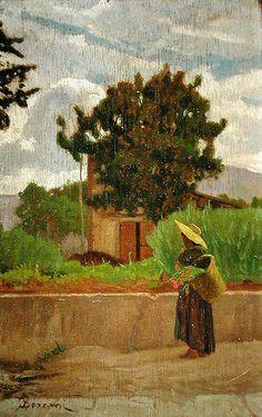 Peasant in Castiglioncello by Odoardo Borrani.