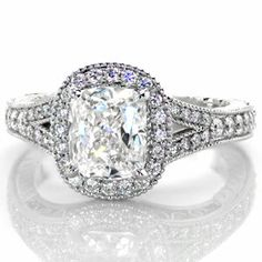 Diana - Knox Jewelers - Minneapolis Minnesota - Filigree Engagement Rings - Halo, Filigree, Cushion Cut
